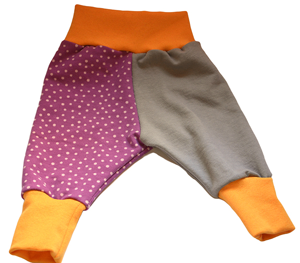 pantalon lila bolas mini
